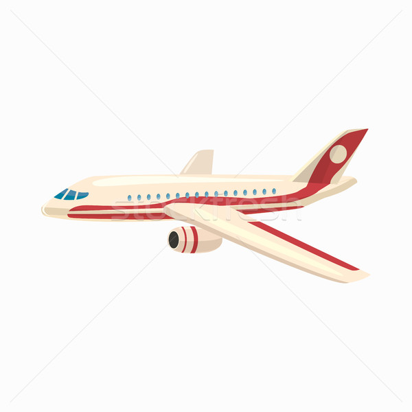 Foto stock: Avión · icono · Cartoon · estilo · aislado · blanco