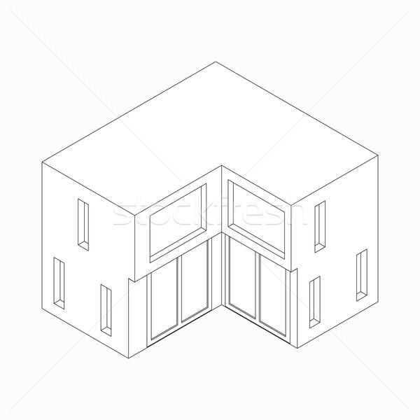 Ikon izometrik 3D stil yalıtılmış beyaz Stok fotoğraf © ylivdesign
