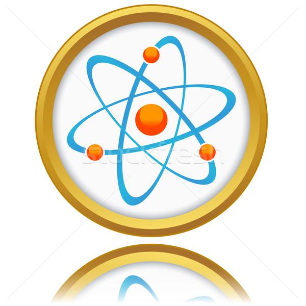 Ikona nowego biały muzyka nauki chemia Zdjęcia stock © ylivdesign