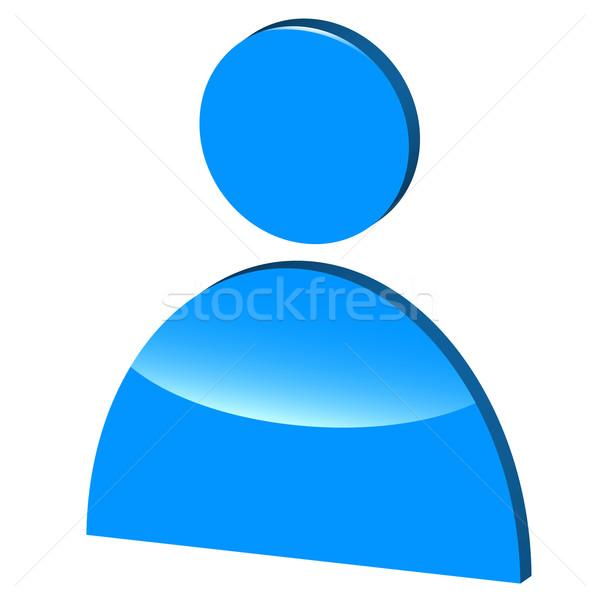 3D symbole homme blanche affaires lumière Photo stock © ylivdesign