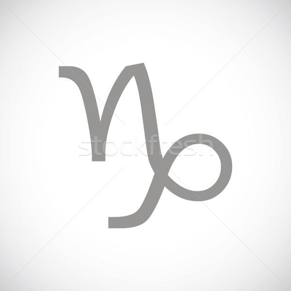 Capricorn black icon Stock photo © ylivdesign