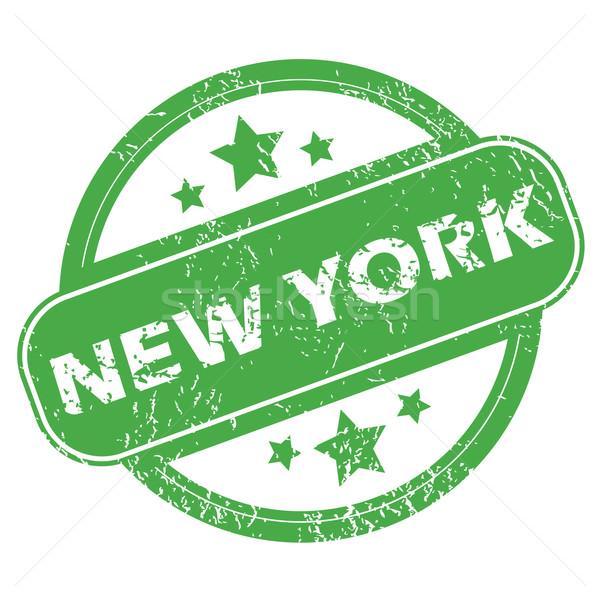 New York green stamp Stock photo © ylivdesign
