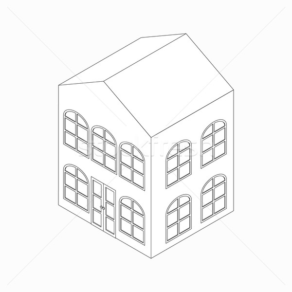 Apartment building with arched windows icon Stock photo © ylivdesign