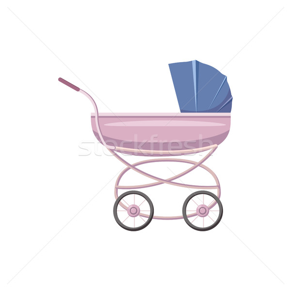 Baby stroller icon, cartoon style Stock photo © ylivdesign