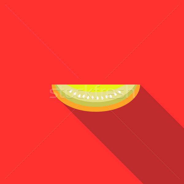 メロン アイコン スタイル 長い 影 食品 ストックフォト © ylivdesign