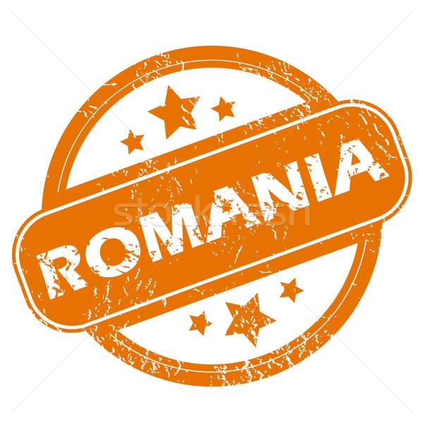 ルーマニア グランジ アイコン オレンジ 白 ストックフォト © ylivdesign