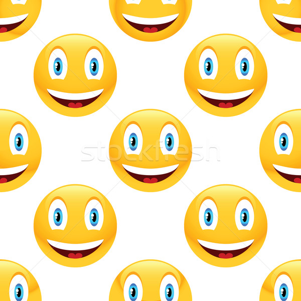 Glimlachend emoticon patroon vector glimlach gelukkig Stockfoto © ylivdesign
