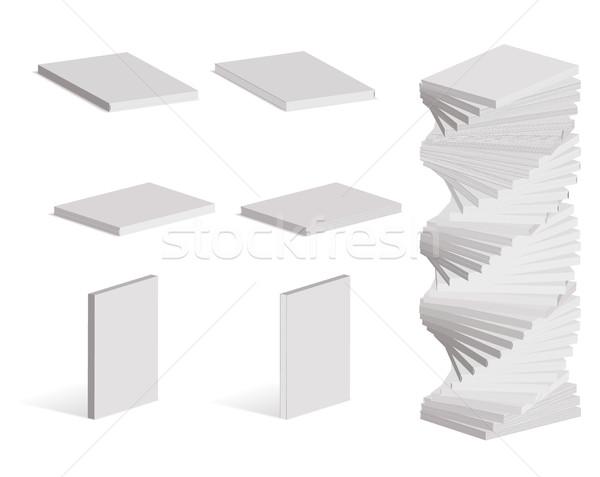 Blank books or magazines set, mockups style Stock photo © ylivdesign
