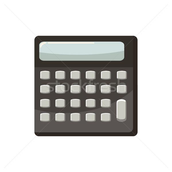 калькулятор икона Cartoon стиль белый служба Сток-фото © ylivdesign