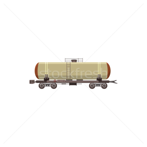 Ferrovia serbatoio icona cartoon stile bianco Foto d'archivio © ylivdesign