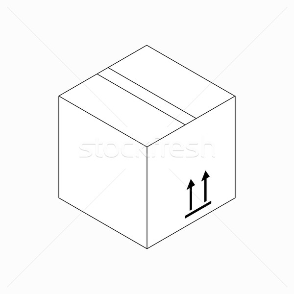 This side up packaging icon, isometric 3d style Stock photo © ylivdesign