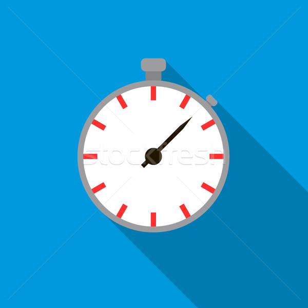 Stopwatch icon in flat style Stock photo © ylivdesign