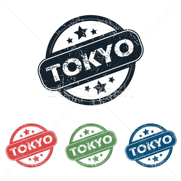 Tóquio cidade carimbo conjunto quatro selos Foto stock © ylivdesign