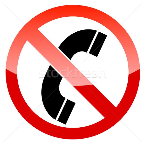 нет телефон вектора знак белый связи Сток-фото © ylivdesign