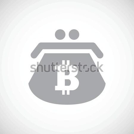 Bitcoin purse icon Stock photo © ylivdesign