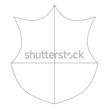 Shield icon, isometric 3d style Stock photo © ylivdesign