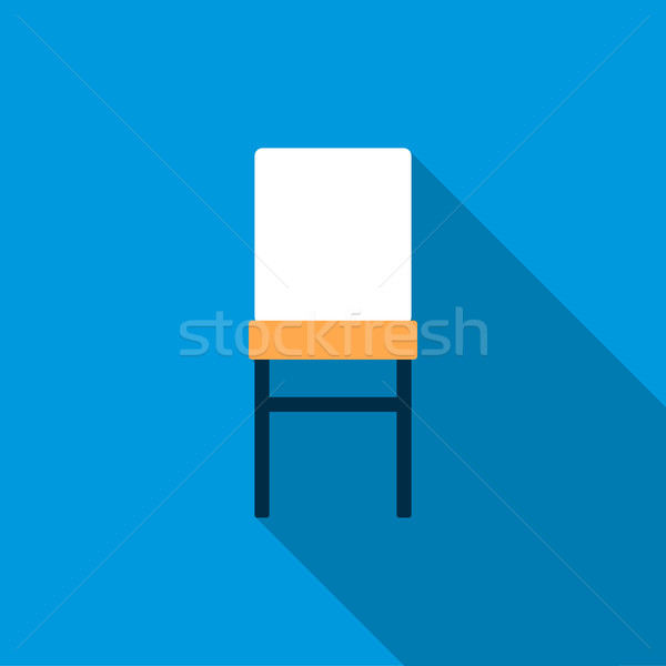 Front of chair icon, flat style Stock photo © ylivdesign