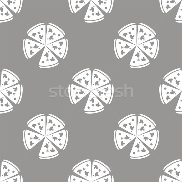 пиццы белый черный веб-дизайна вектора Сток-фото © ylivdesign