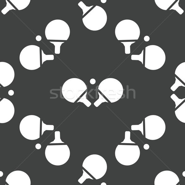 Tenis stołowy wzór sylwetka dwa piłka Zdjęcia stock © ylivdesign