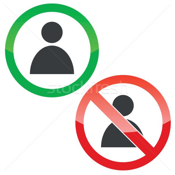 Usuário permissão sinais conjunto permitido proibido Foto stock © ylivdesign