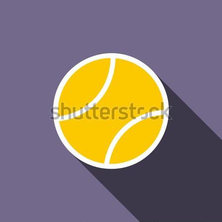 Bola de tênis ícone estilo violeta esportes tênis Foto stock © ylivdesign