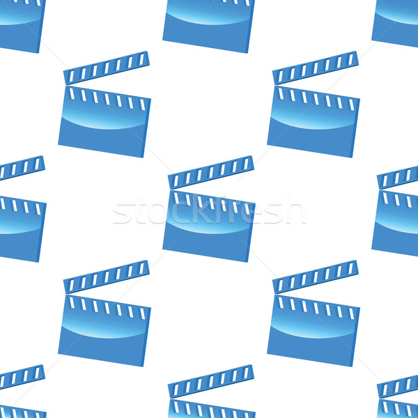 Blue clapperboard pattern Stock photo © ylivdesign
