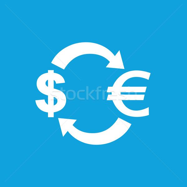 Dollar-euro exchange icon Stock photo © ylivdesign