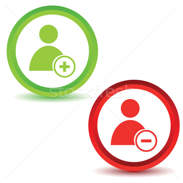 Two user manage icons Stock photo © ylivdesign