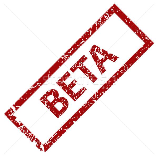 Beta grunge czerwony odizolowany biały Zdjęcia stock © ylivdesign