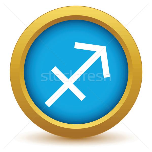 Gold Sagittarius icon Stock photo © ylivdesign