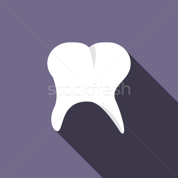 Tooth icon, flat style  Stock photo © ylivdesign