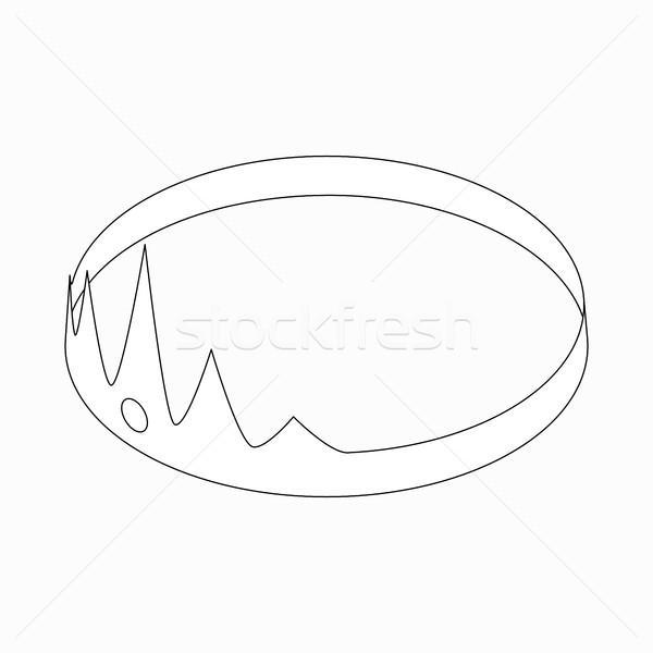 Coroa ícone isométrica 3D estilo branco Foto stock © ylivdesign