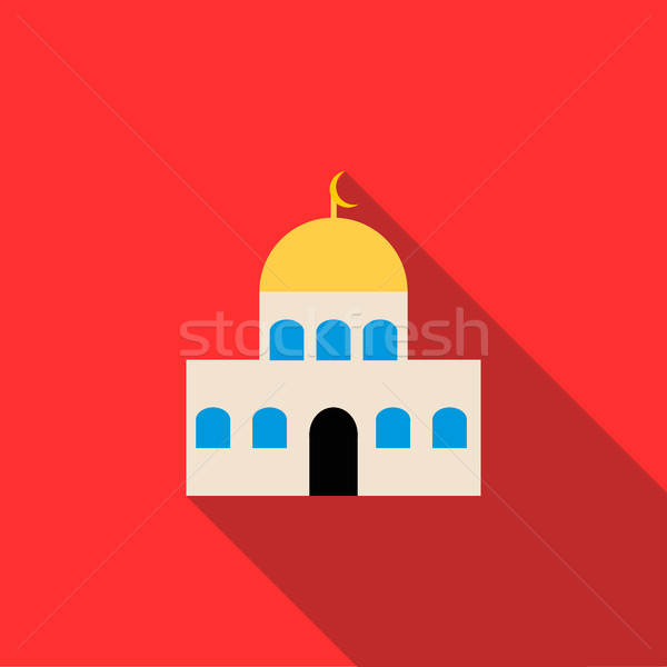 Mosque icon in flat style  Stock photo © ylivdesign