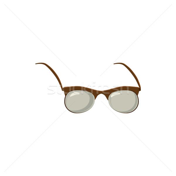 Szemüveg ikon rajz stílus fehér szem Stock fotó © ylivdesign