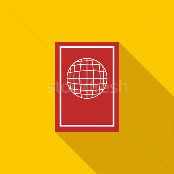 Pasaporte icono estilo largo sombra documento Foto stock © ylivdesign