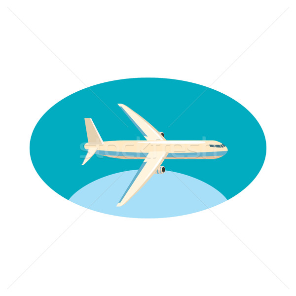 Cargo plane icon, cartoon style Stock photo © ylivdesign
