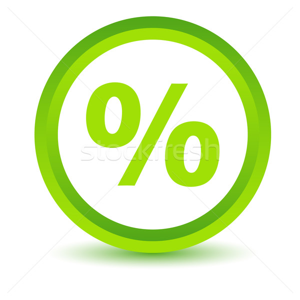 Stock photo: Green percentage icon