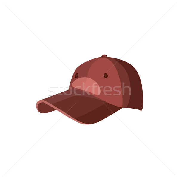 Red baseball hat icon, cartoon style Stock photo © ylivdesign