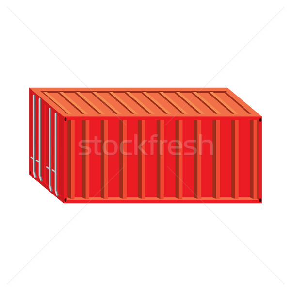 Stock fotó: Piros · teher · konténer · ikon · rajz · stílus