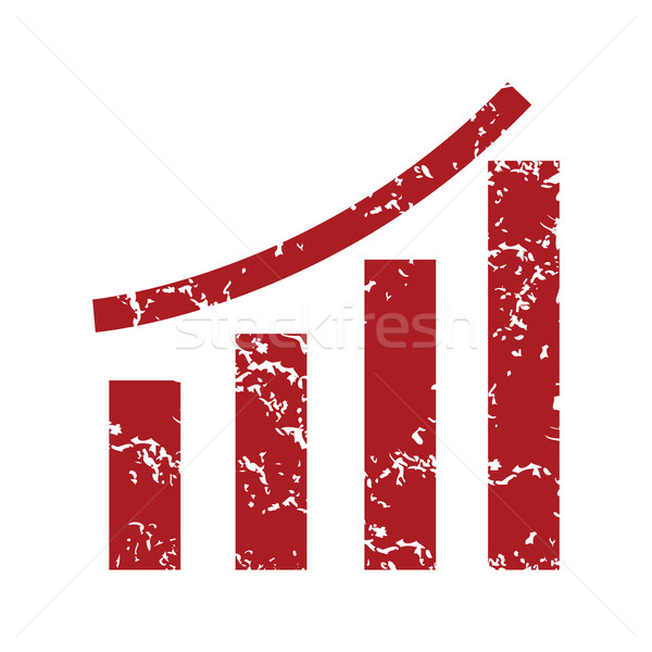 Red grunge growing graph logo Stock photo © ylivdesign