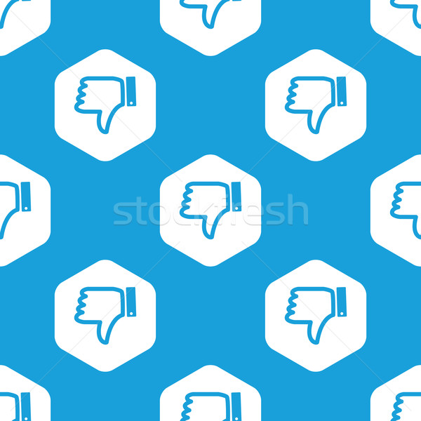 Dislike hexagon pattern Stock photo © ylivdesign
