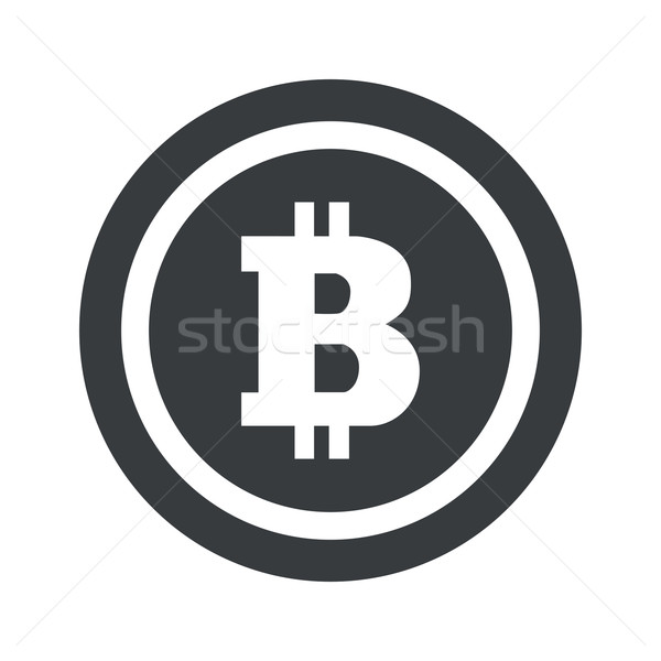 Round black bitcoin sign Stock photo © ylivdesign