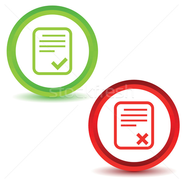 Two result icons Stock photo © ylivdesign