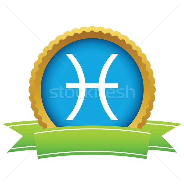 Gold Pisces logo Stock photo © ylivdesign