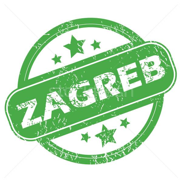 Zagreb green stamp Stock photo © ylivdesign