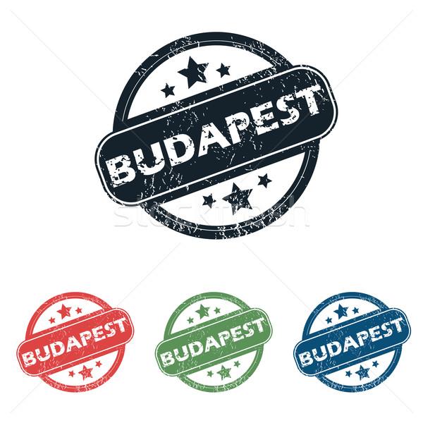 Round Budapest city stamp set Stock photo © ylivdesign