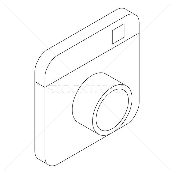 写真 カメラ アイコン アイソメトリック 3D スタイル ストックフォト © ylivdesign