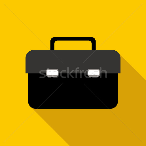 Business briefcase icon, flat style Stock photo © ylivdesign