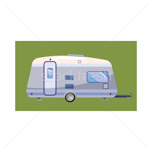 Mobil home icon, cartoon style Stock photo © ylivdesign
