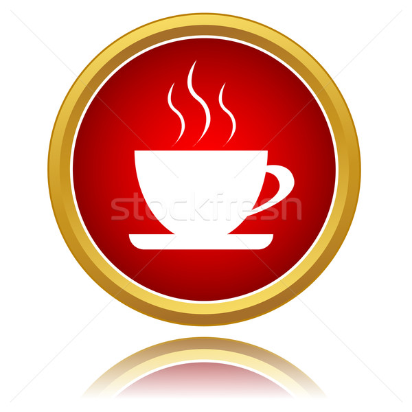 Coffee cup icon Stock photo © ylivdesign
